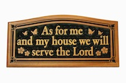 CNC Wall Plaque: As for me and my house…