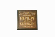 Wall Plaque: The Lord will renew you