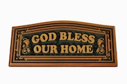 CNC Wall Plaque: God bless our home